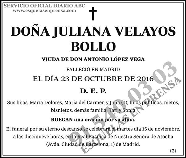 Juliana Velayos Bollo